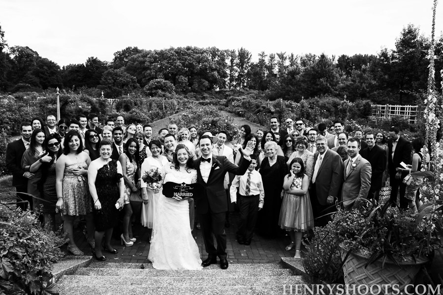 wedding in Brooklyn Botanical Garden